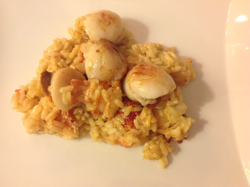 Lobster and lemongrass risotto