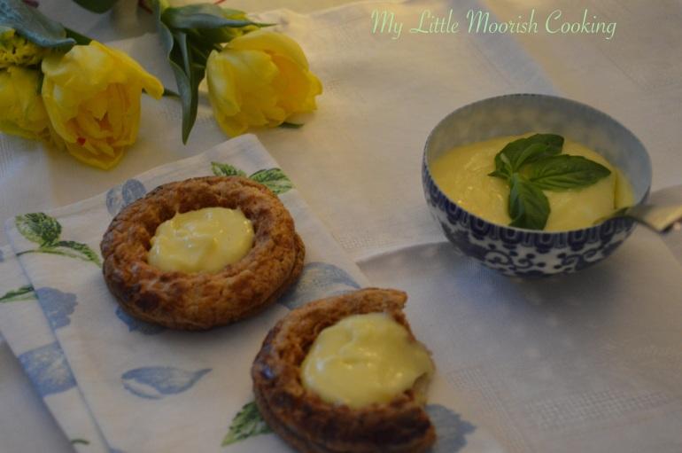 lemon curd basilic et sablés