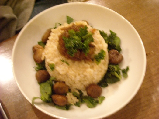 Risotto Champignons Café Pinson - Mushroom risotto Café Pinson