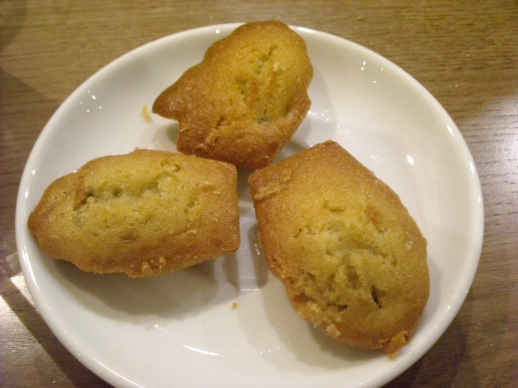 Madeleines raisins secs - Dried currants madeleines CAFE PINSON