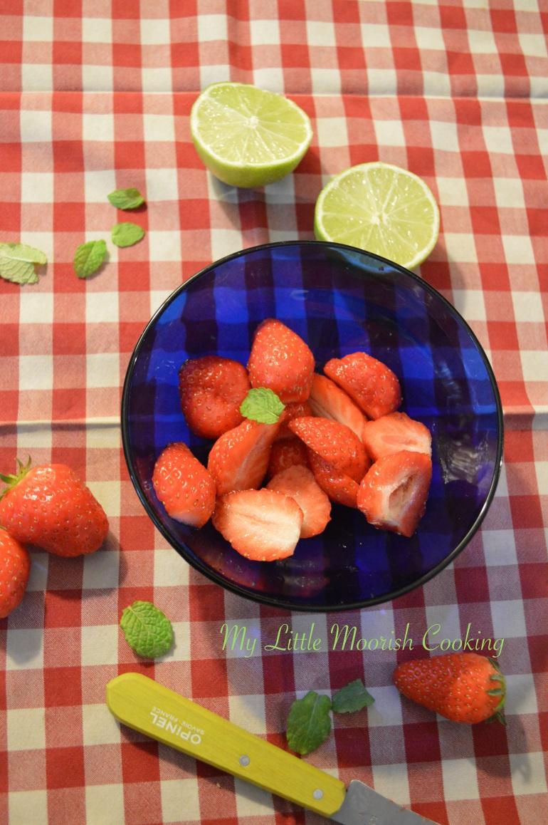 Marinade fraises
