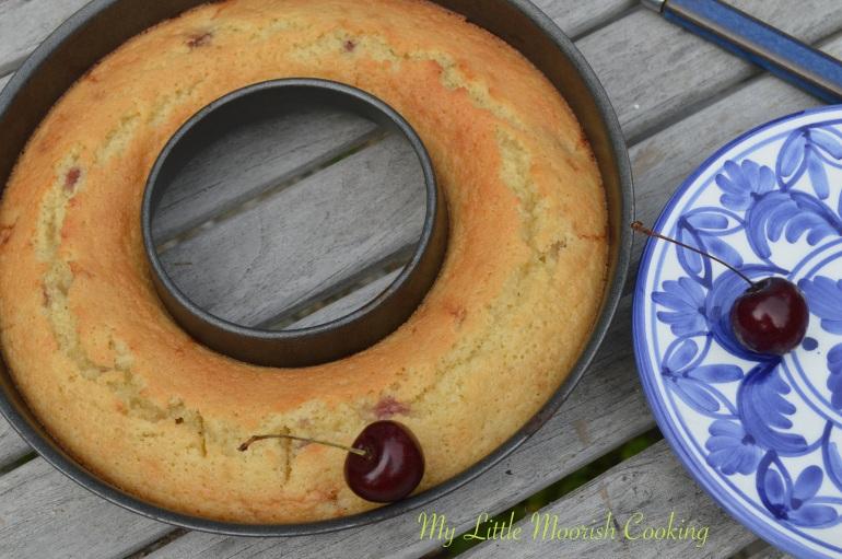 Gâteau cerises - My Little Moorish Cooking