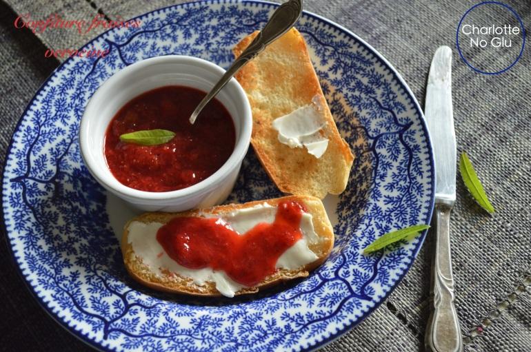 Confiture fraises verveine - strawberry verbena