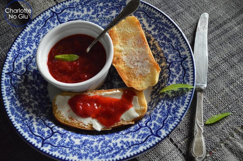 Strawberry verbena jam - confiture fraises verveine