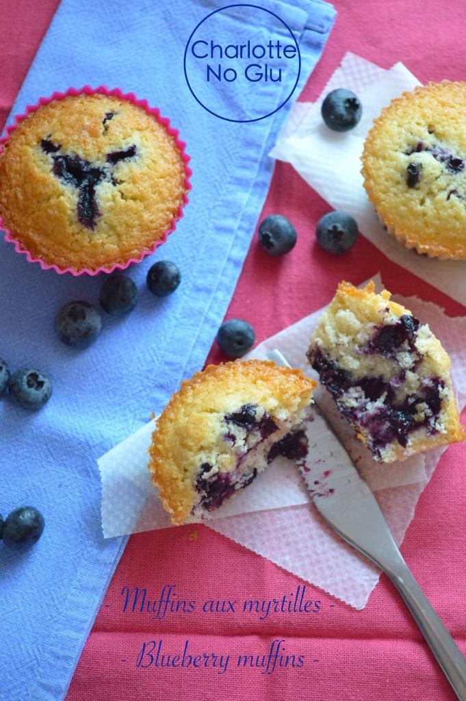 Blueberry muffins (gluten and dairy free) - Muffins myrtilles (sans gluten sans lait)