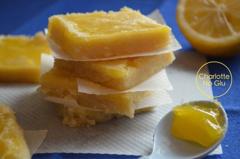 Carrés citron (sans gluten et sans lait) - Lemon squares (gluten and dairy free)