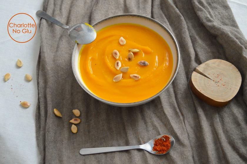 Spicy pumpkin soup - Velouté de potiron épicé