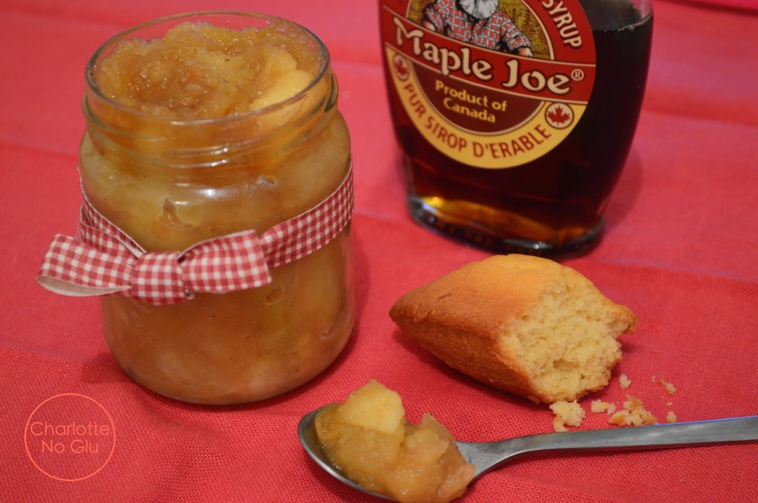 Compote sirop d'érable - Maple syrup apple compote