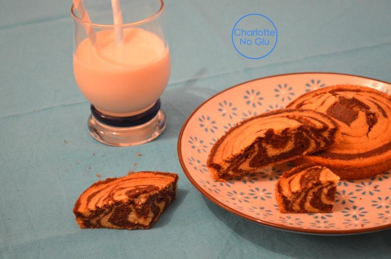 Gâteau zébré Charlotte No Glu